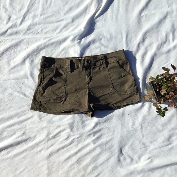 Plugg Jeans Pants - Plugg Jeans Army Green  shorts